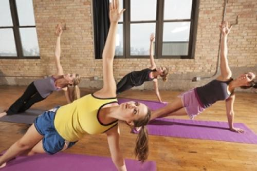 a yoga class for teenagers
