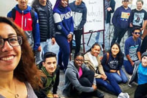 Y-Scholars group at Teen Center in Berkeley.